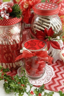 Peppermint Candy Jars