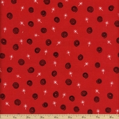 Peppermint Twist Swirls Cotton Fabric - Red