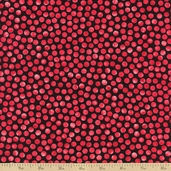 Petal Poetry Dot Cotton Fabric - Red