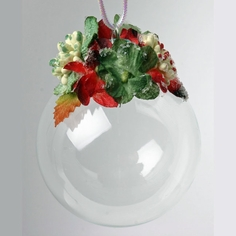 Petaloo Glass Ball Ornament