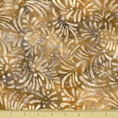 Petals Cotton Fabric - Abstract Petals - Beige