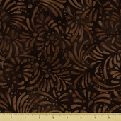 Petals Cotton Fabric - Abstract Petals - Brown
