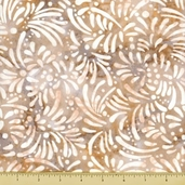 Petals Cotton Fabric - Abstract Petals - Cream