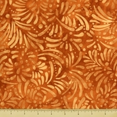 Petals Cotton Fabric - Abstract Petals - Orange