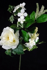 Pew Decorations White Roses and Hydrangeas - Clearance