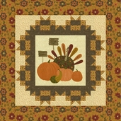 Pieces From My Heart Gobble Gobble Panel Pattern