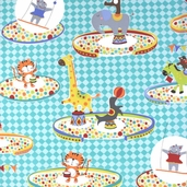 Pierre's Famous Traveling Circus Cotton Fabric - Three Ring Circus - Multi Color DC5714-MULT-D