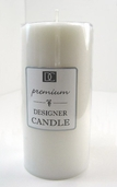 Pillar Candle 6 in - White
