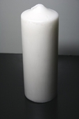 Pillar Candle Pearlescent 8in. - Pearl White