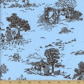 Pimatex Basics Toile Cotton Fabric - Aqua BKT-9683-70