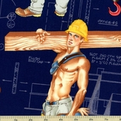 Pin-Up Heavy Equipment Cotton Fabric