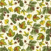Pine Ridge Cotton Fabric - Ivory