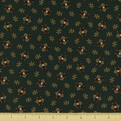 Pine Tree Cotton Fabric - Rustic Toss - Forest Green