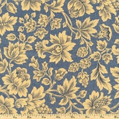 Pine Tree Floral Cotton Fabric - Blue R33-4024-0150 - Clearance