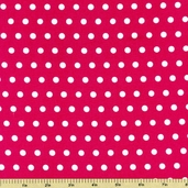 Pink Dazzled Polka Dot Cotton Fabric - Hot Pink