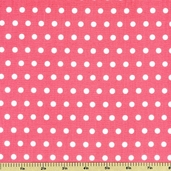 Pink Dazzled Polka Dot Cotton Fabric - Light Pink