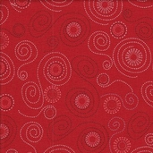 Pirates Cotton Fabric - Red