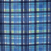 Plaid Fleece  Fabric - Blue 41603-6