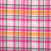 Plaid Fleece  Fabric - Pink 41603-5
