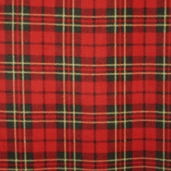 Plaid Fleece  Fabric - Red 21632-1