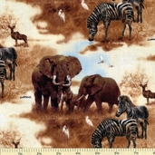 Plains of Africa Cotton Fabric - Safari