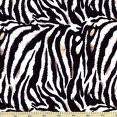 Plains of Africa Cotton Fabric - Zebra Print