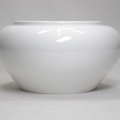 Plastic Floral Containers White High Luster Design Bowl 4 inch - Clearance
