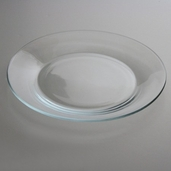 Plate 10.5 Round - Clear Glass - Box of 12