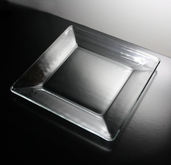 Plate 10in  Square - Clear Glass