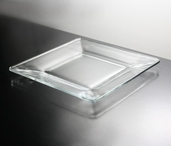 Plate 8in Square - Clear Glass