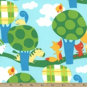Play Date Walk Cotton Fabric - Park Blue