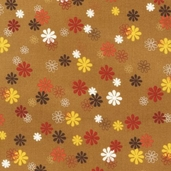 Playday Cotton Fabric - Cocoa