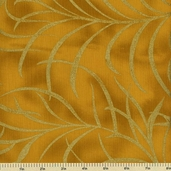 Plume Cotton Fabric - Large Plume - Gold CM8664