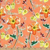 Pocket Full of Poppies Field of Poppies Coton Fabric - Cirtrus PWKD062