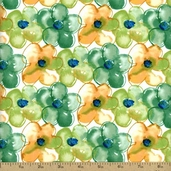 Pocket Full of Poppies Petals Cotton Fabric - Citrus PWKD069