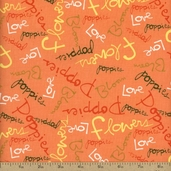 Pocket Full of Poppies Poem Cotton Fabric - Citrus PWKD065