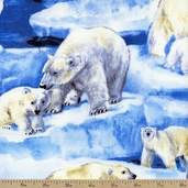 Polar Bear Ice Cotton Fabric - Nature