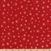 Polar Pals Snowflakes Cotton Fabric - Red 1841-26533-331