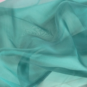 Polyester Organza Fabric - Crepe Teal