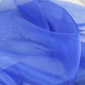 Polyester Organza Fabric - Royal
