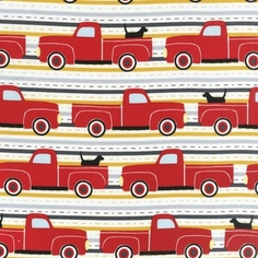 Pooches and Pickups Cotton Fabric - Summer