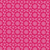 Pop Floral Cotton Fabric - Pink