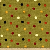 Poppy Love Cotton Fabric - Green Q.1409-86311-798W