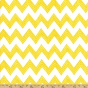 Poppy Patio Chevron Stripe Cotton Fabric - Yellow