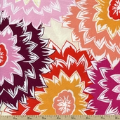 Posh Dahlia Cotton Fabric - Multi TD95