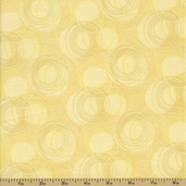 Potpourri Cotton Fabric - Swirls - Cream - CLEARANCE