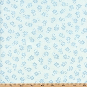 Prairie Rose Cotton Fabric - Blue 0737-16