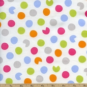Precious Dots Cotton Fabric - White