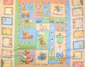 Precious Flannel Fabric Collection - Panel - CLEARANCE