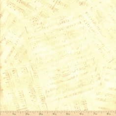 Prelude Allover Music Cotton Fabric - Tan